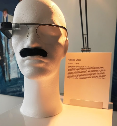 google glass and google moustache